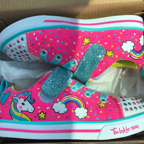 7aaed4b51b96c Skechers Shoes | Bnwt Pink Unicorn Twinkle Toes By | Poshmark